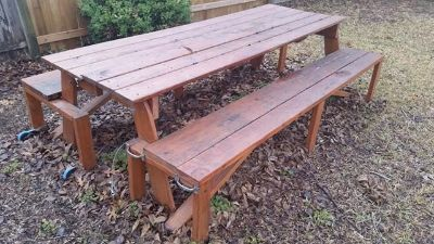 $150, Picnic table and Porch Swing