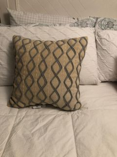 EUC Grey and Beige Throw Pillow SF PF