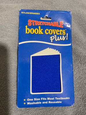 Brand New Stretchable Blue Book Cover Plus!