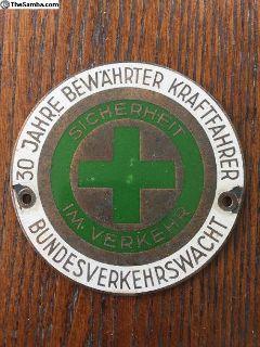 30 Year Safe Driver Badge Emblem German Vintage