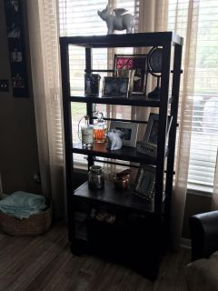 Bookcase with Rolling wheels also lock in place