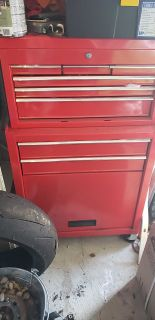Red Tool Box on wheels