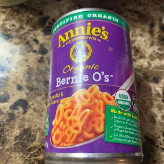 Annie s organic Bernie O s Pasta in tomato and cheese sauce