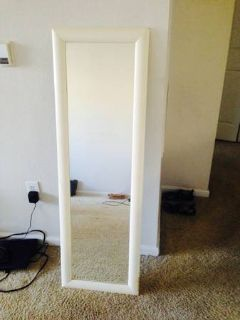 Full Length Mirror with Wood Frame