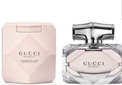 New Gucci Bamboo Authentic Perfume and Lotion Set