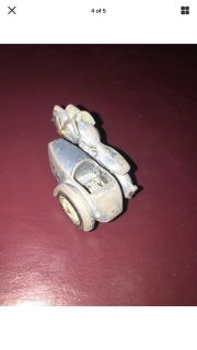 Lesney Matchbox Triumph Motorcycle Side and Car