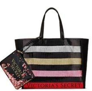 new Victoria Secrets large tote with mini inside