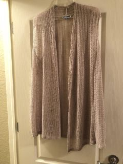 JM Collection cardigan; tan with some sparkle(no sleeves) x-large; non-smoking/no pet home; Lake Jackson pick up; $10