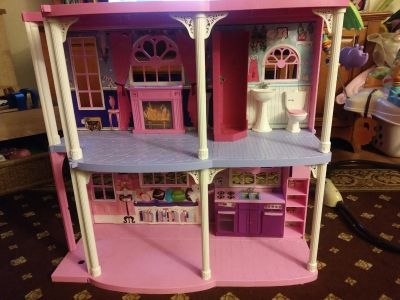 As is Barbie doll house. Very used condition but lots of life left.