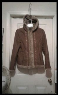 Womans 8-10/hooded coat/12.00