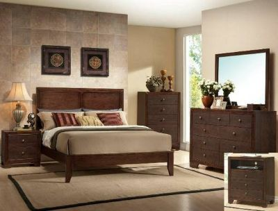 SALE! ESPRESSO URBAN QUALITY WOOD QUEEN BED SET!