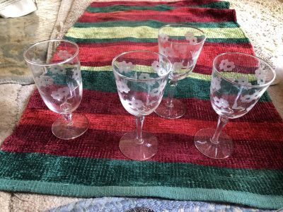 4 princess house glasses 2 dif sizes $5 for all
