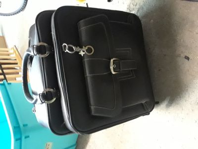 Leather Rolling Bag