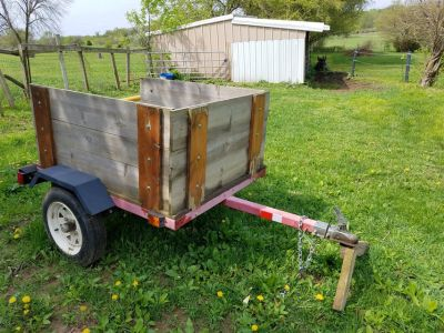 Nice smaller utility trailer lawn cart