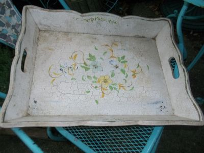 Pretty Wooden Serving Tray