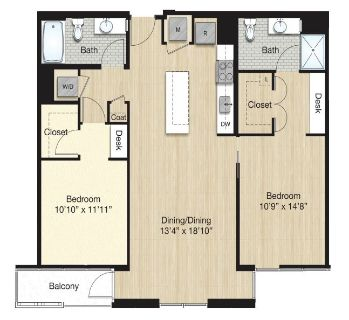 $8280 2 apartment in Bloomingdale