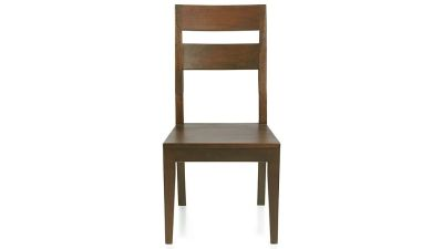 Crate and Barrel Basque Honey Wood Dining Chair