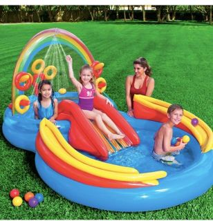 Intex rainbow ring inflatable water centre