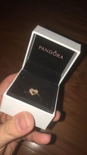 Authentic pandora ring called shimmering puzzle heart