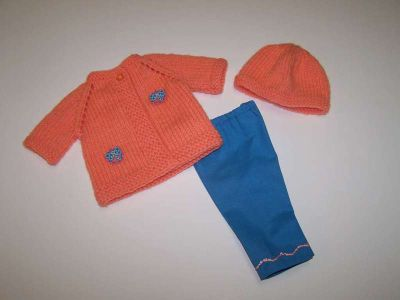 Doll Sweater, Hat and Pants for 18 inch doll such as American Girl dolls