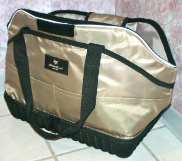 PET CARRIER TRAVEL BAG Purse EDDIE BAUER Smaller Dog Bargain LIKE NEW!