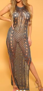 LIKE NEW Size large gunmetal beach cover up