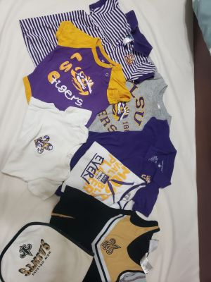 LSU tigers clothing baby and toddler lot