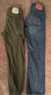 Levi s joggers and Levi s 514 Jeans Sz 14 slim Sz 16 $8 for both
