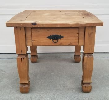 Southwestern End Table or Night Stand with Drawer
