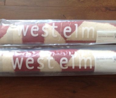 West Elm Hacienda Dhurrie Rugs Set of Two Size 2x3 New in Bag! Perfect for kitchen or bath!