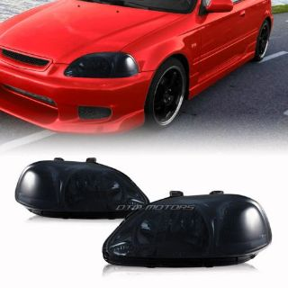 Find Smoked Housing Smoked Lens Headlights with Corner Lights For 96-98 Honda Civic motorcycle in Rowland Heights, California, United States