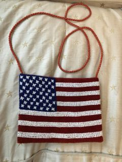 Sequined Flag Purse