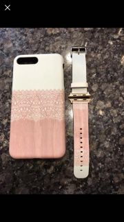 Matching iPhone 7 or 8 plus case and Apple Watch 42 mm band