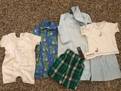 Boys newborn to 3-6month clothes NWT and EUC kissy kissy and boutique
