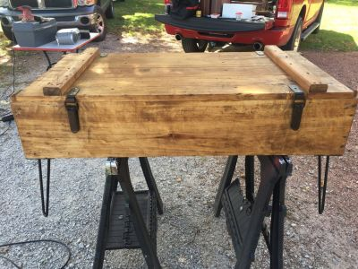 Repurposed Shipping crate coffee table
