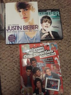 Justin Bieber and One Direction book.Allof them for $3
