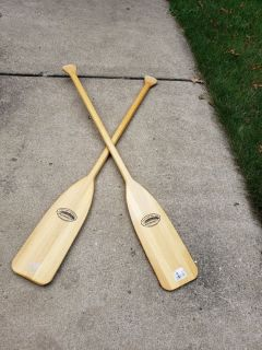Two Paddles Oars 46 inches NICE