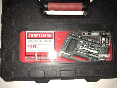 58 Piece Craftsman Mechanics Tool Set