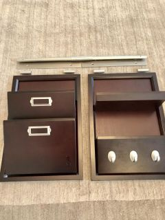 Pottery Barn daily system letter bin and daily organizer