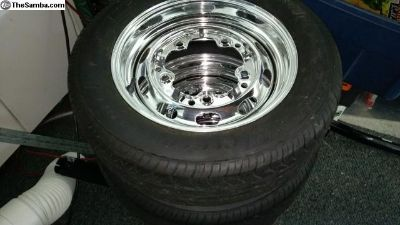 """Wide five 16""""x5.5 Chrome slotted wheels"""