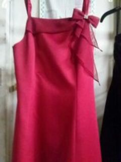 red prom evening homecoming dress size 14