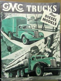 Find 1947 GMC Truck Sales Brochure 71 Diesel 6 & 4 Cylinder Engine 750 900 950 970 motorcycle in Holts Summit, Missouri, United States, for US $35.00
