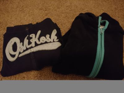 Size 8 zip up hoodies