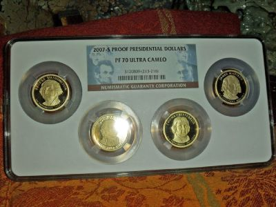 2007 S Proof Presidential PF 70 ULTRA CAMEO BLOCK SET