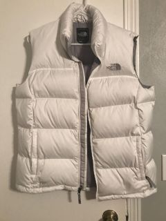 XL white North Face Puffer Vest
