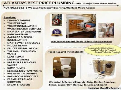 All Plumbing services discounted