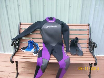 Wet suit and wet boots