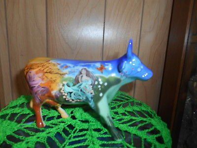 """Westland Gifts COW PARADE Figurine #9197! """"FOUR SEASONS"""" Orig box not included."""