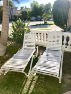 Brand New Never Used set of 2 Outdoor lounge chairs