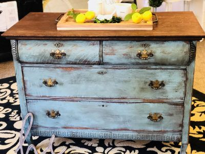 Restyled Antique Curved Front Lowboy